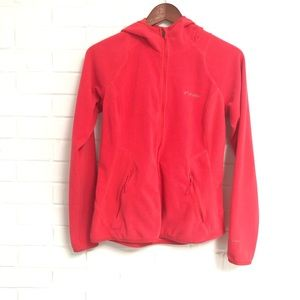 Columbia Small Red Hoodie Zip Down